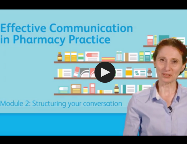 Effective Communication in Pharmacy Practice